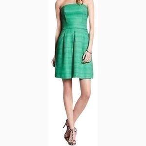 Banana Republic Kelly Green Strapless Dress